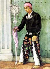 Grabado que representa a Atanasio Tzul.  Tomada de Wikimedia Commons.