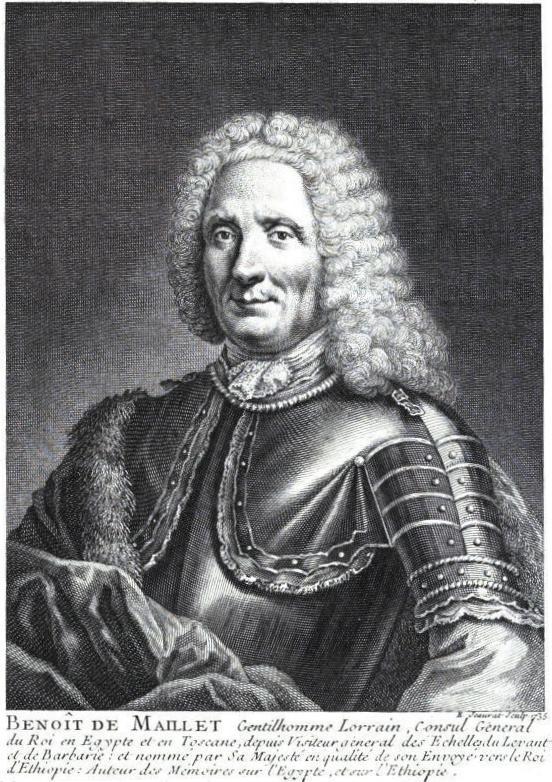 Benoît de Maillet in ''Description de l'Egypte'', Paris, 1735