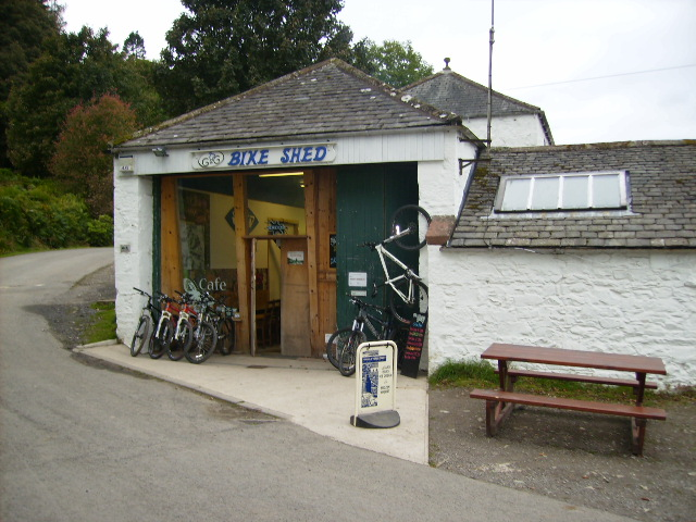 Bike Shed and Cafe - geograph.org.uk - 571113