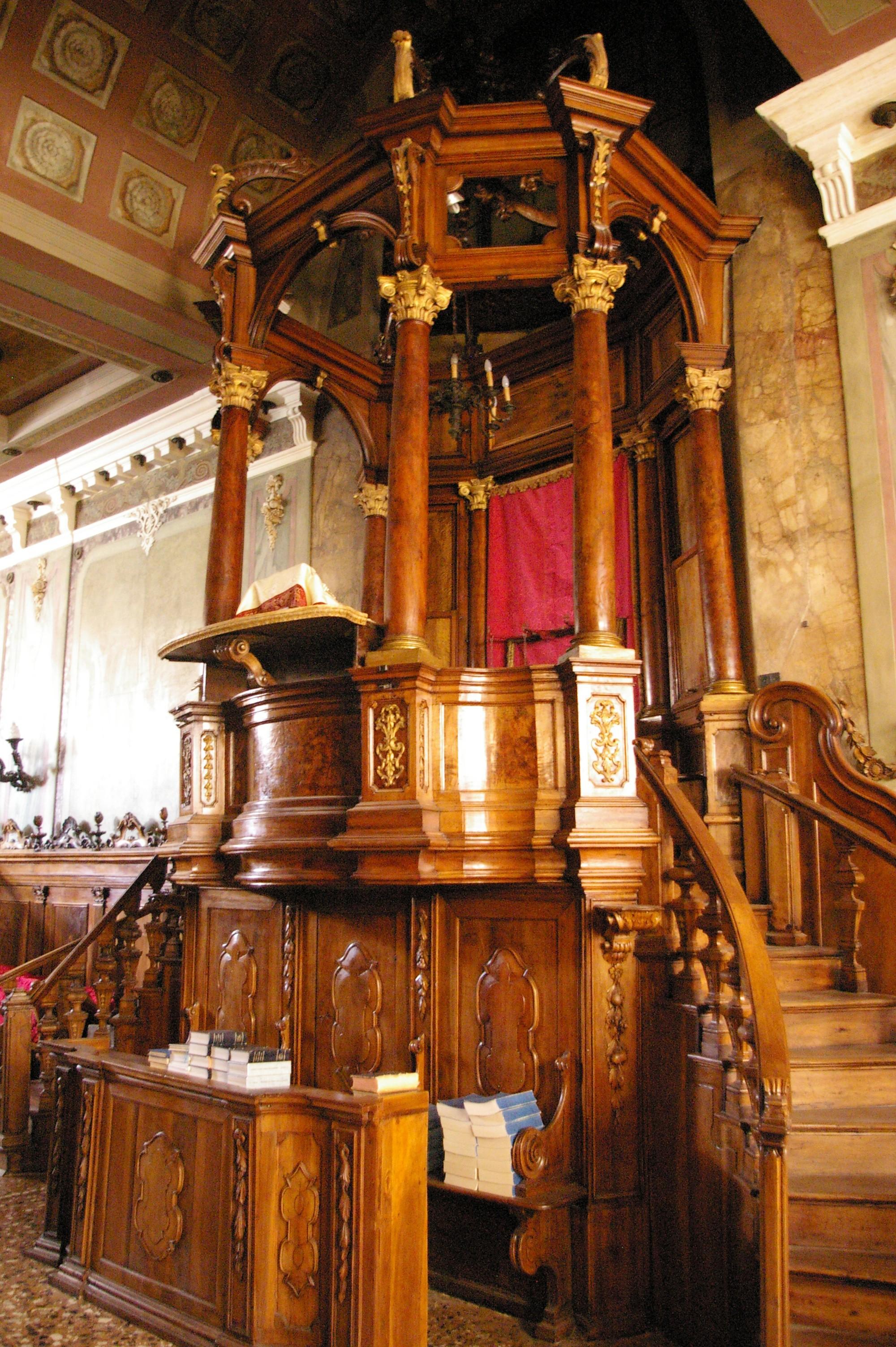 File Bimah De La Synagogue Italienne De Padoue Jpg Wikipedia