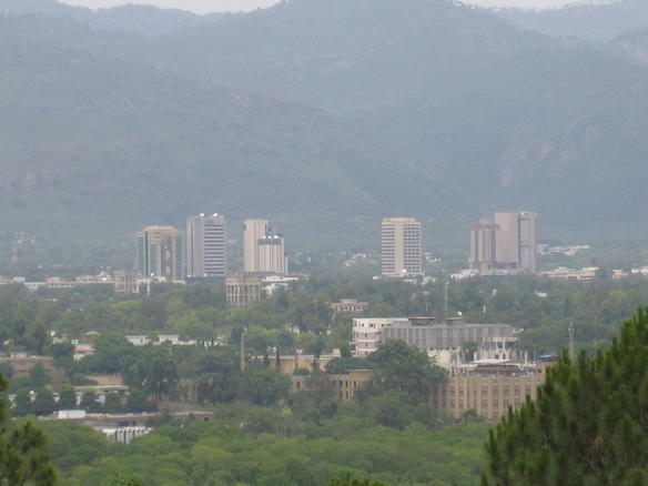 Islamabad Pakistan  city photos gallery : Bird's eye view of Islamabad, Pakistan Wikimedia Commons