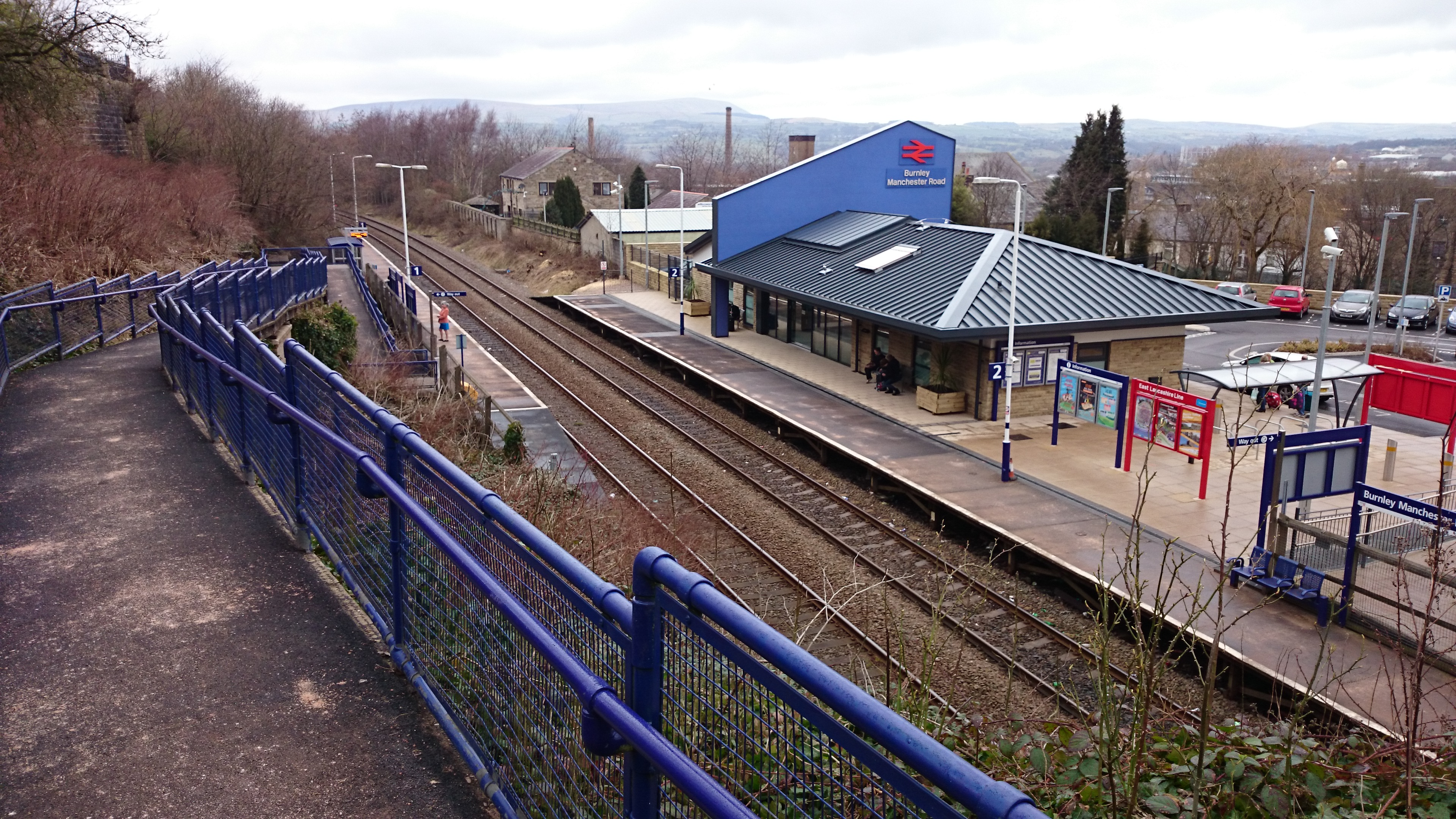 Lancs /& Yorks Railway. Colne Railway Station Photo Nelson 3 Foulridge