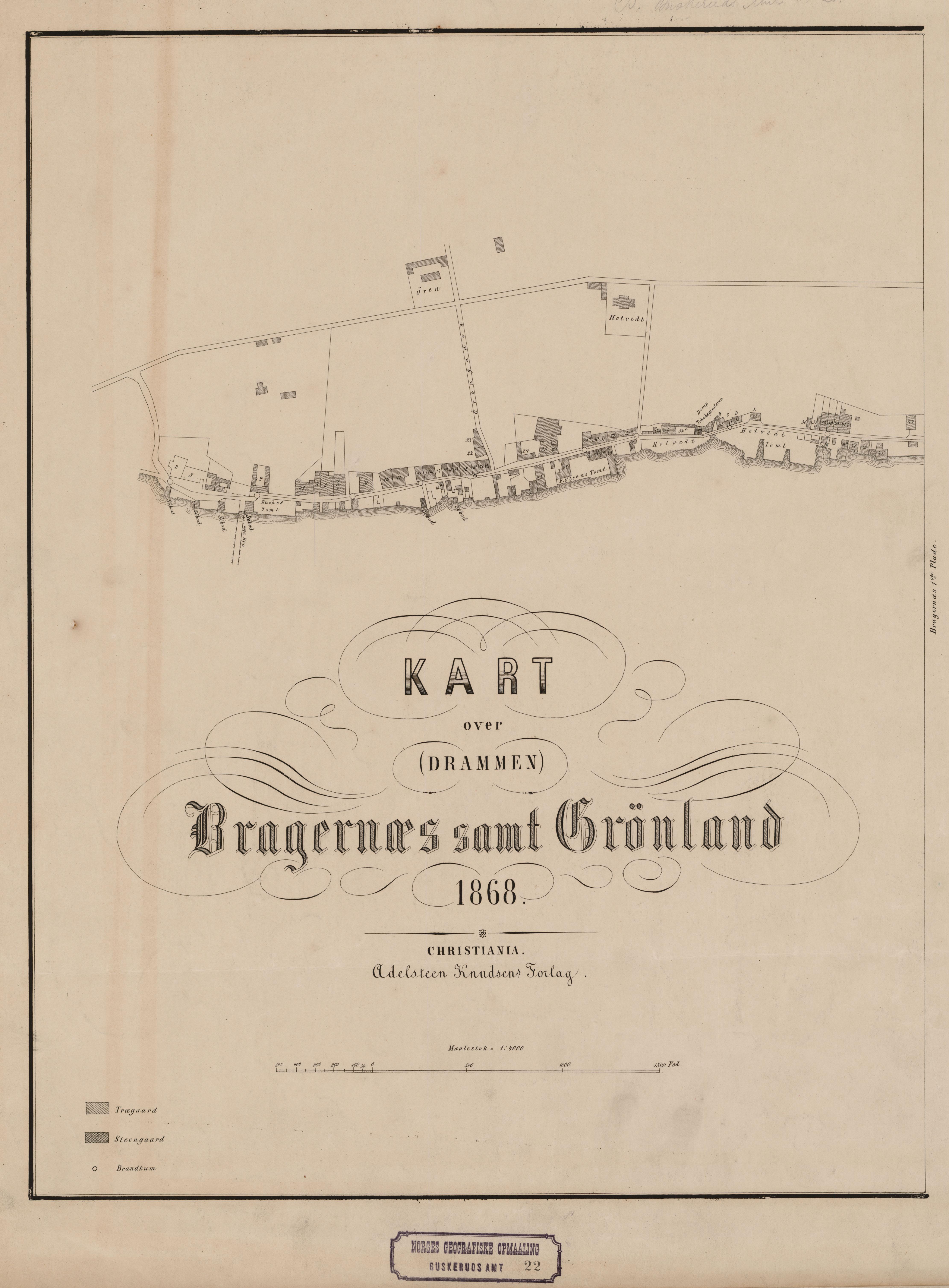 kart over grønland File:Buskerud amt nr 22 midtre  Kart over Bragernæs samt Grønland  kart over grønland