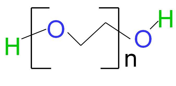 File:Chemical structure of polyethylene glycol (PEG).jpg