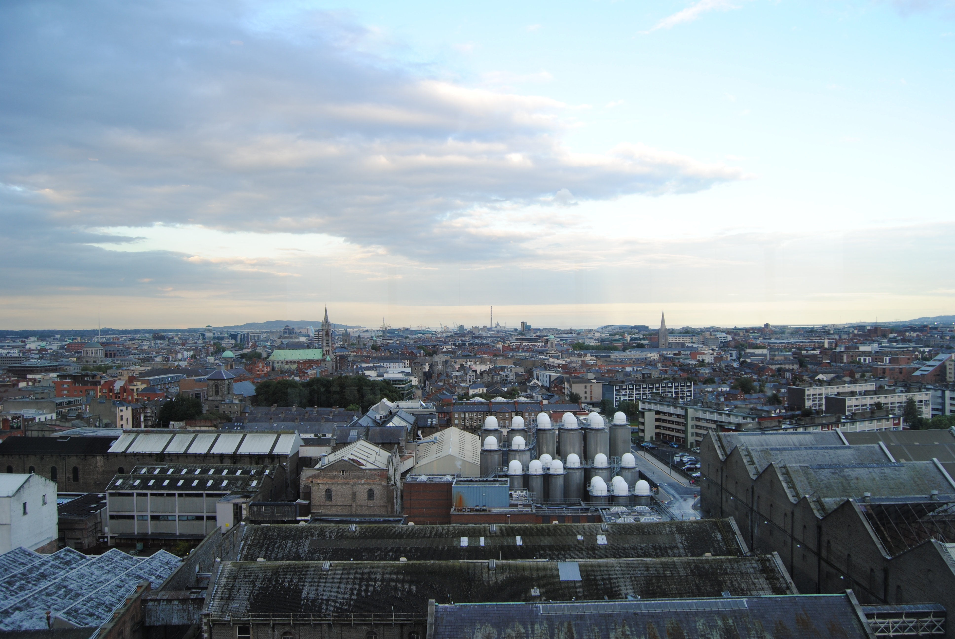 Vistas panoramicas de Dubin desde Guiness Store