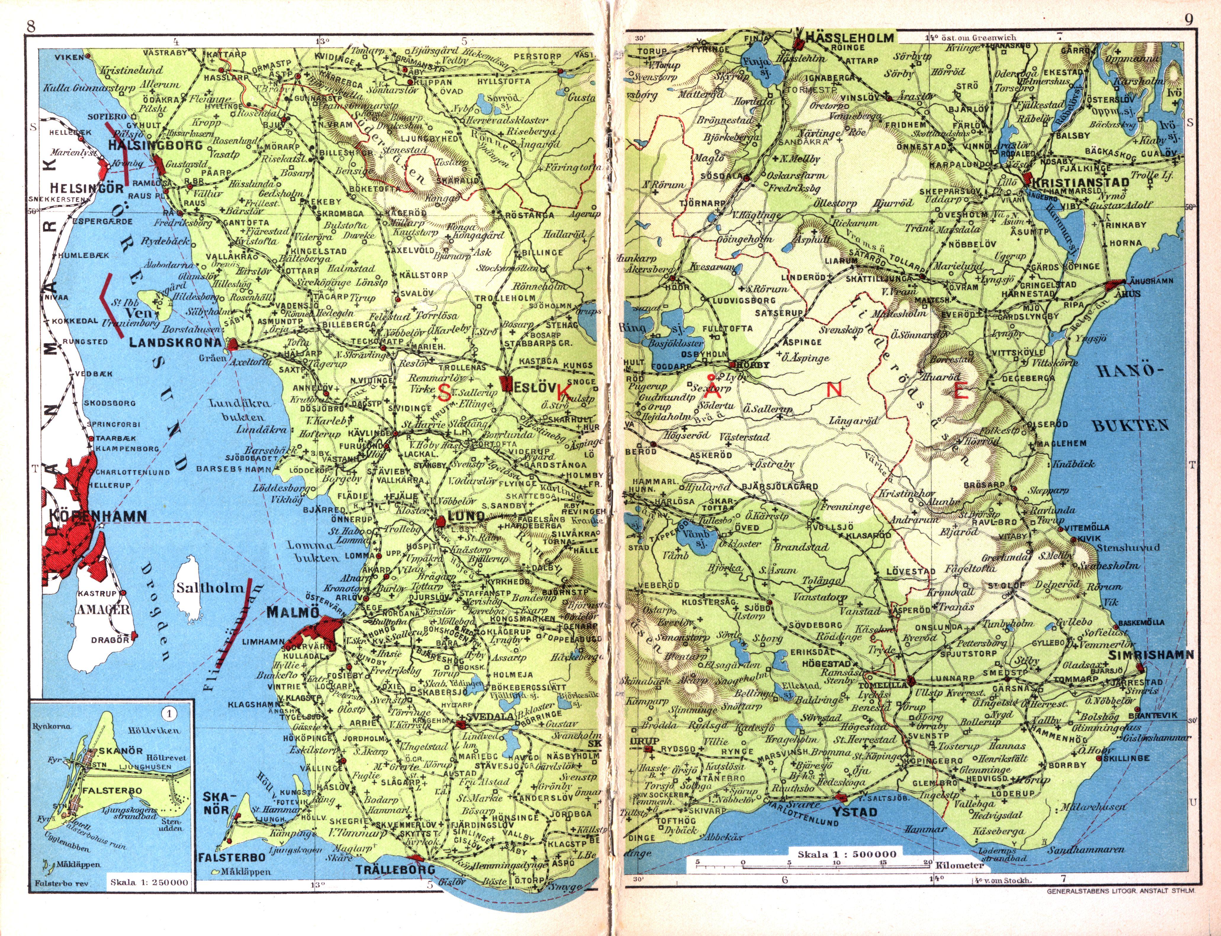 File Cohrs Atlas Over Sverige 0005 Sydskane Jpg Wikimedia Commons