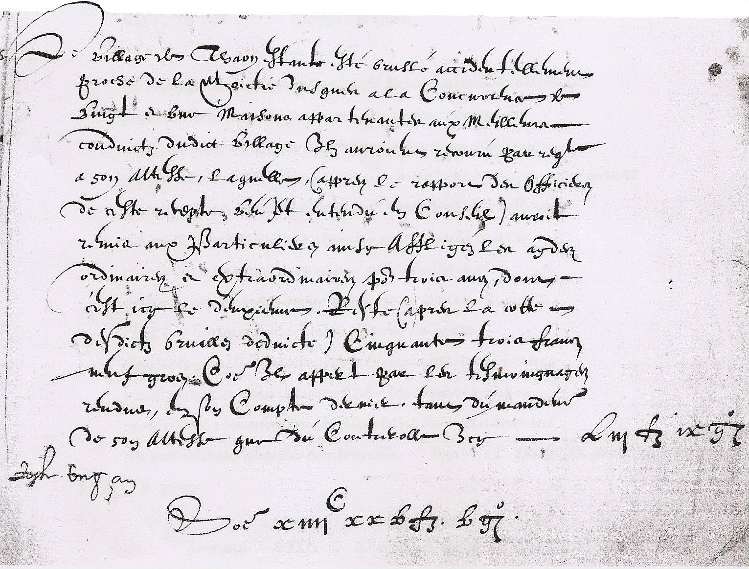 Fichier Comptes Thaon Les Vosges 1600 Archives Des Vosges
