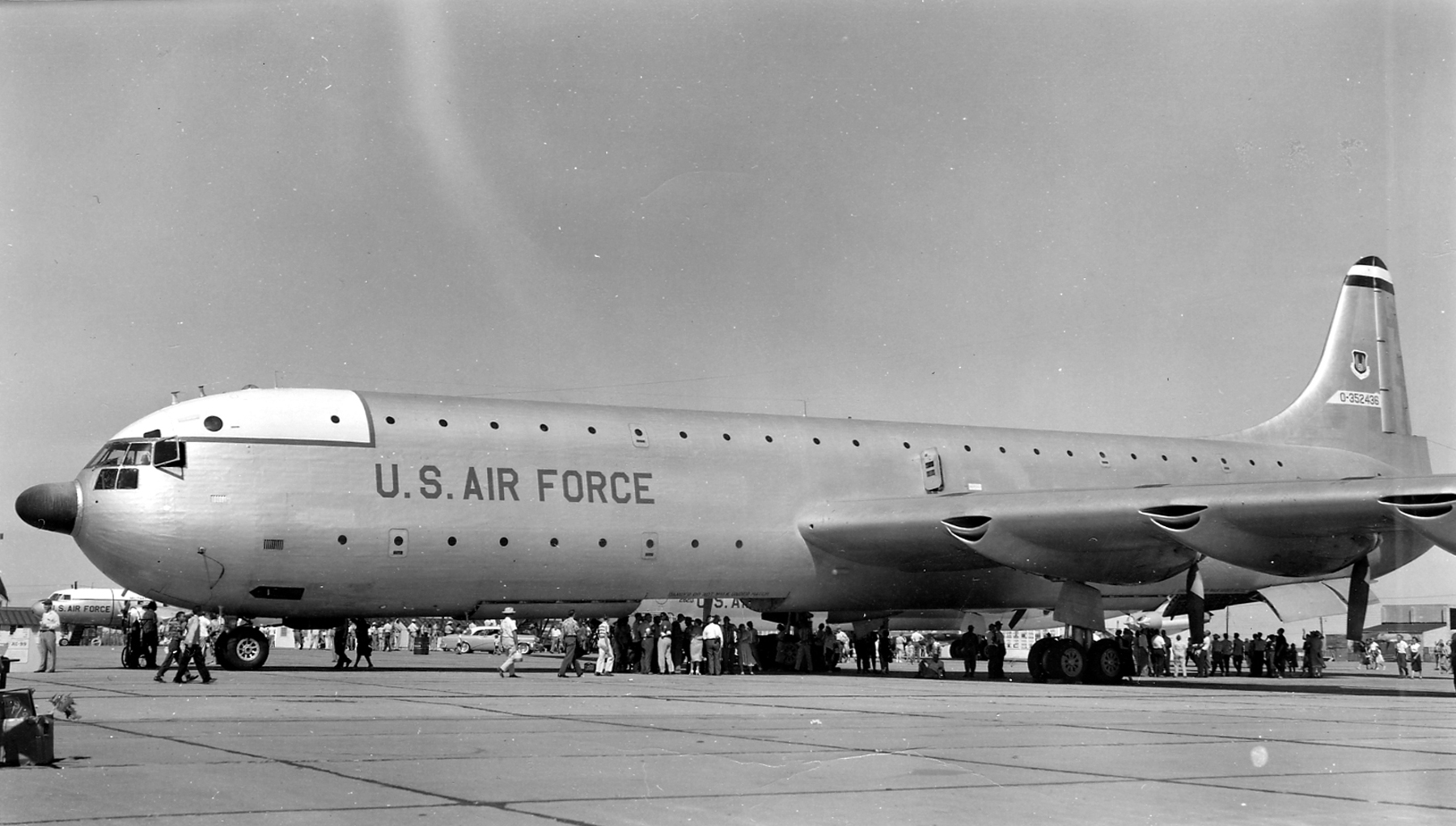 File Convair Xc 99 On Display With Radar 1953 Jpg