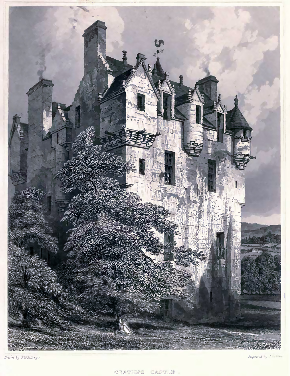 Картинки старинных замков в графике