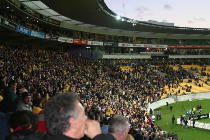 Crowd at WPX vs MBV game on 26 August 2007
