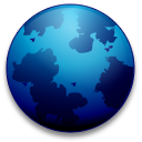 The generic globe logo used when Firefox is compiled without the official branding