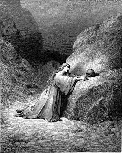 마리아 막달라인의 통회 (귀스타브 도레, Gustave Dore, 1866년)