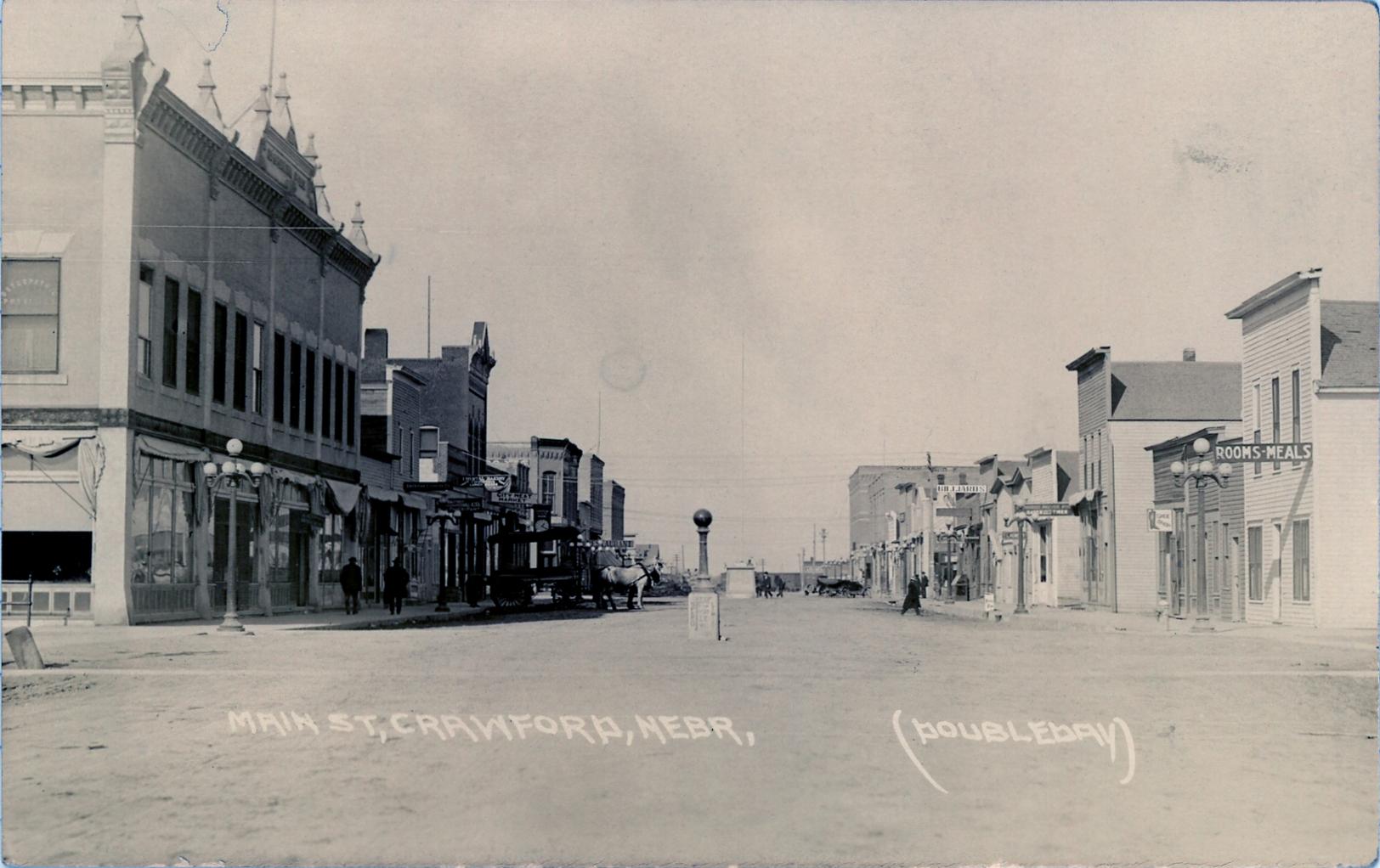 File Downtown Crawford Nebraska Postcard C 1916 Jpg