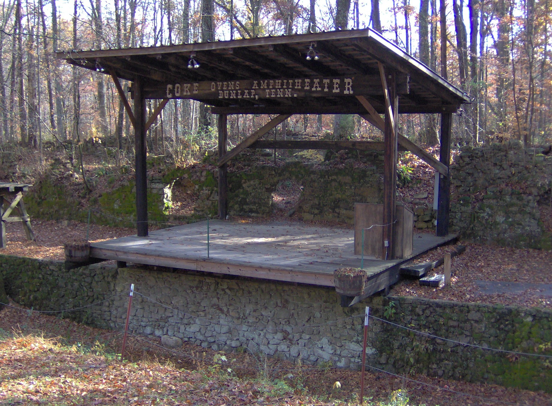 Dunlap-coke-ovens-amphitheater-tn1.jpg Amphitheater at Dunlap Coke Ovens Park in Dunlap, Tennessee, USA. A battery of coke ovens spans the photo
