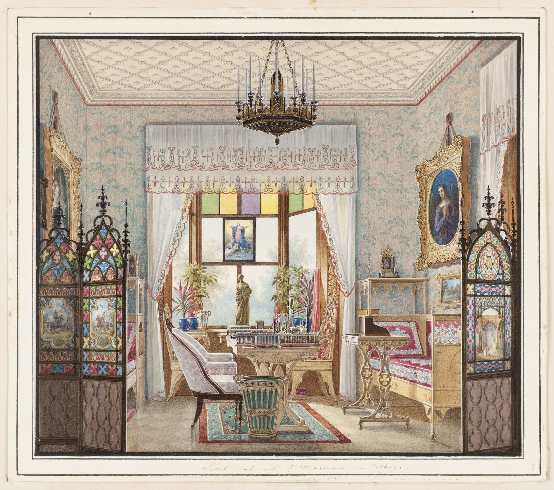 file eduard petrovich hau empress alexandra feodorovna 39 s sitting room cottage palace st. Black Bedroom Furniture Sets. Home Design Ideas