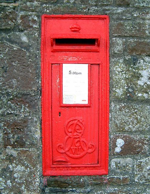 FileEdward VII Wall Letter Box Near Tintern Abbey