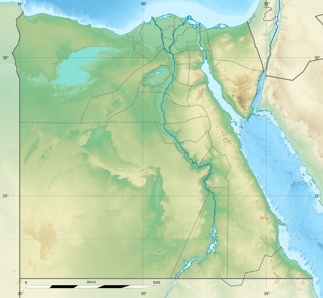 Luxor Wikipedia - Map of egypt elevation