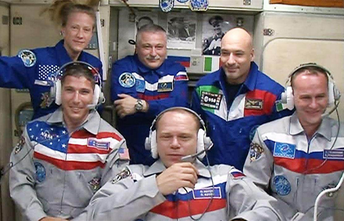 expedition 37 crew in the zvezda service module.jpg