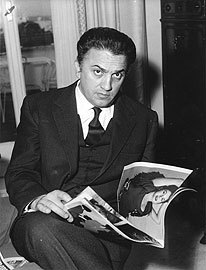 Federico Fellini during the 1950s