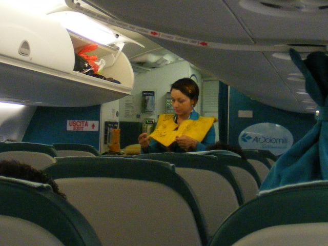 Female flight attendant of Air Dolomiti