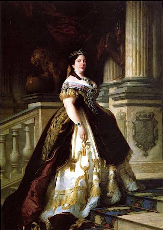File:Formal portrait of Queen Isabel II of Spain.jpg