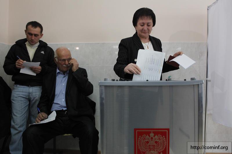 13.11.2011 Ałła Dżiojewa, pierwsza tura wyborów prezydenckich: autor: Katerina Pukhaeva @ News agency RES, źródło: wikipedia.org