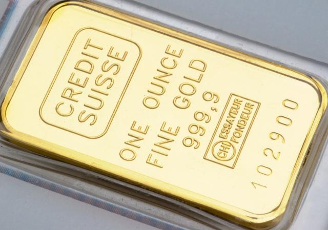 Gold 31,10 Gramm Barren (999 / 24kt.) <br>Quelle und copyright:Wikipedia 2011