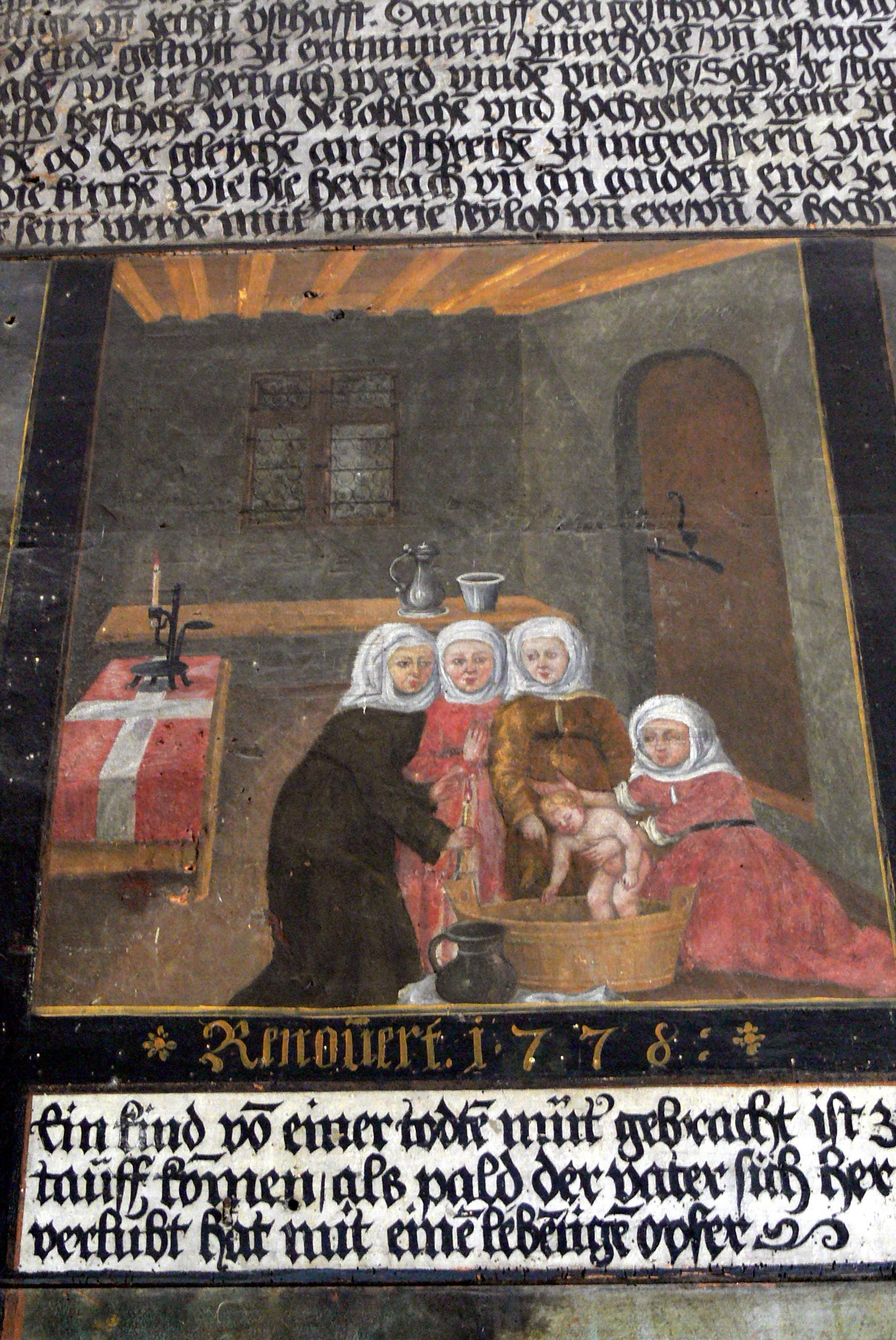 16th century Baptism