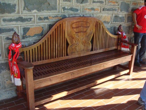 Hillsborough Memorial Bench, Spion Kop, South Africa.jpg