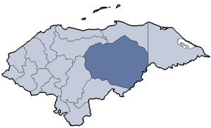 Location of Olancho department
