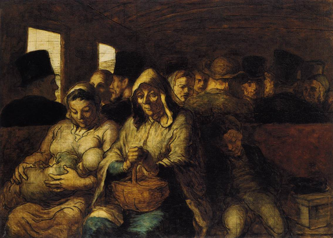 The Third-Class Carriage, by Honoré Daumier