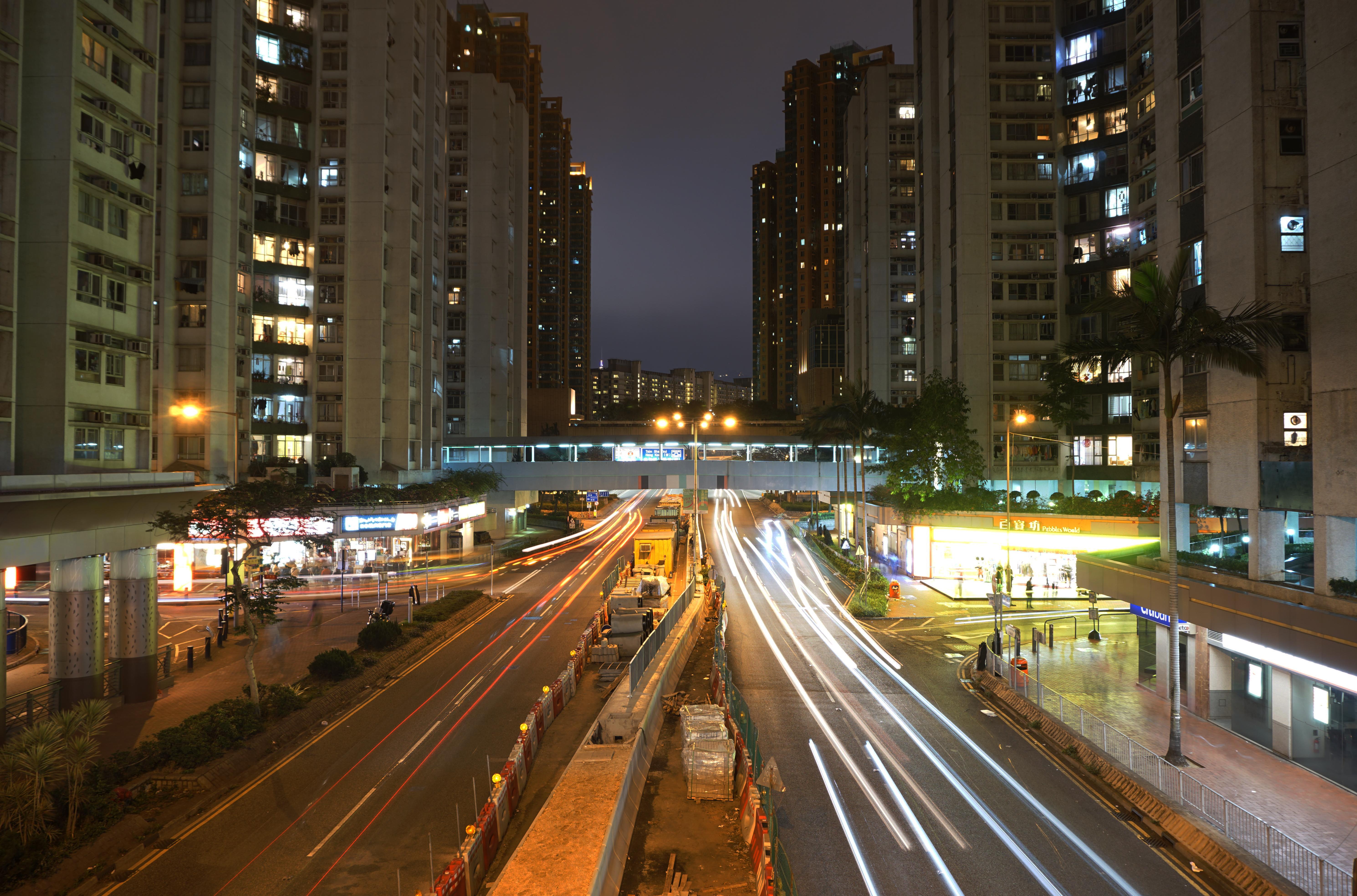 Filehung Hom Road At Night Street Light Rays Improvedjpg