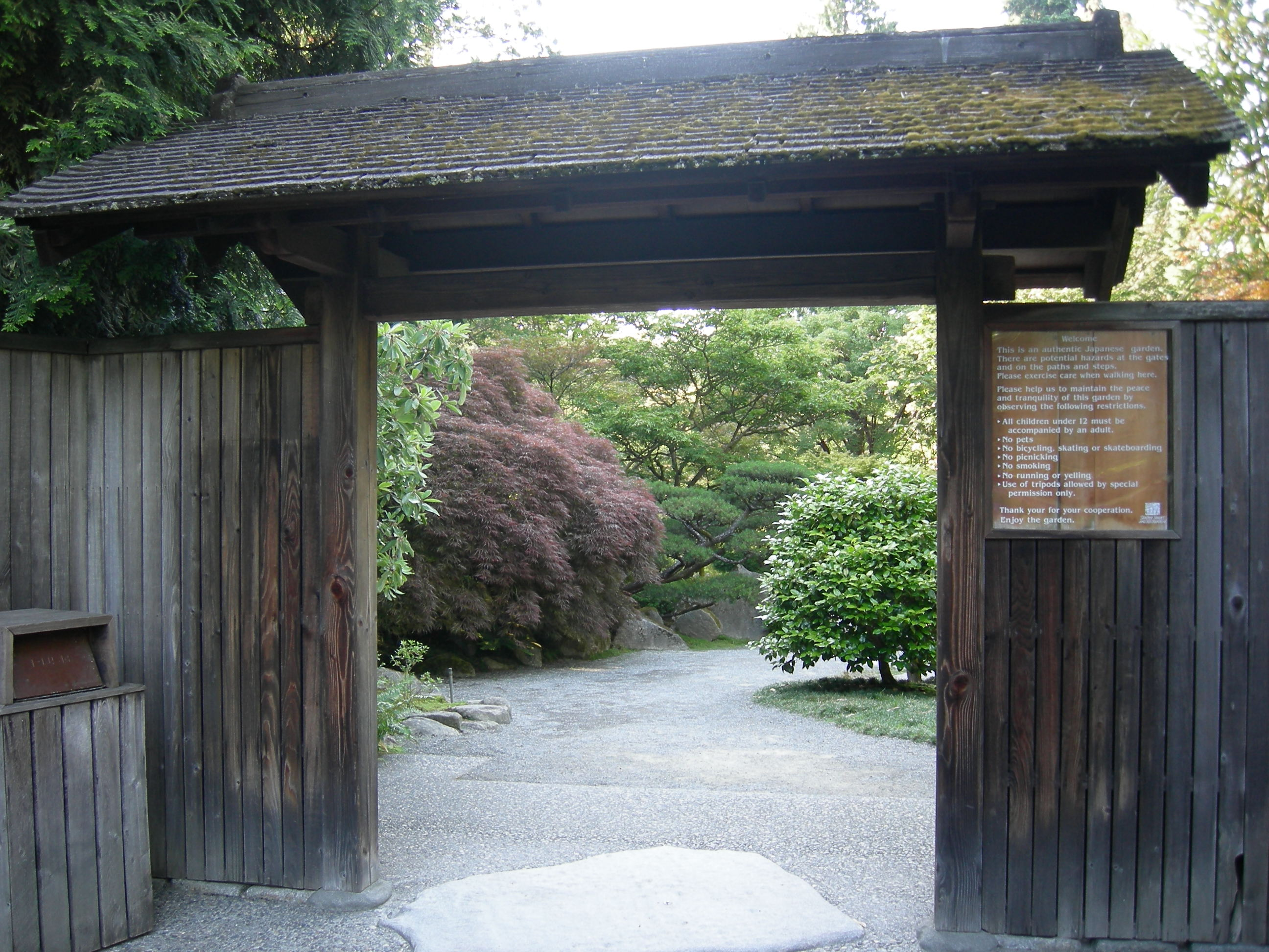 File japanese garden seattle entrance for Make a japanese garden gate