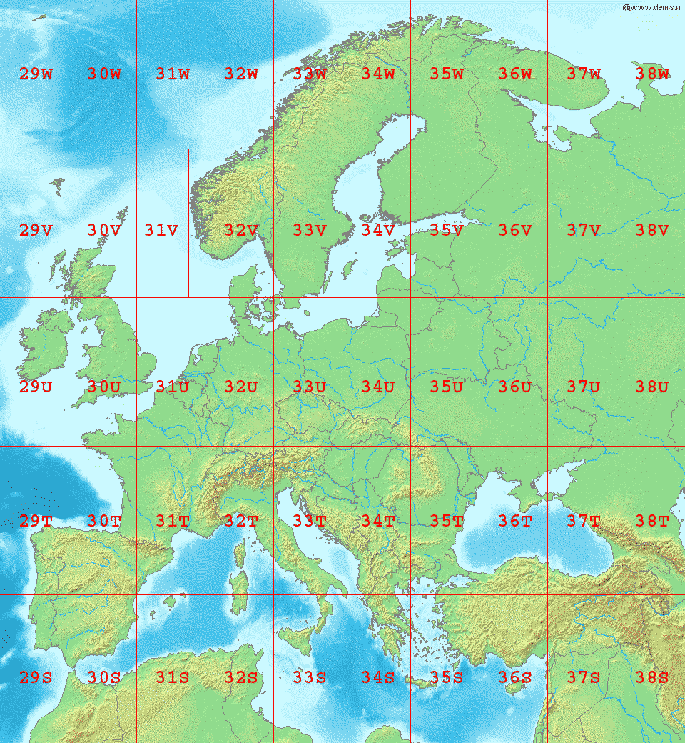 Latitude Map Of Europe.File La2 Europe Utm Zones Png Wikimedia Commons