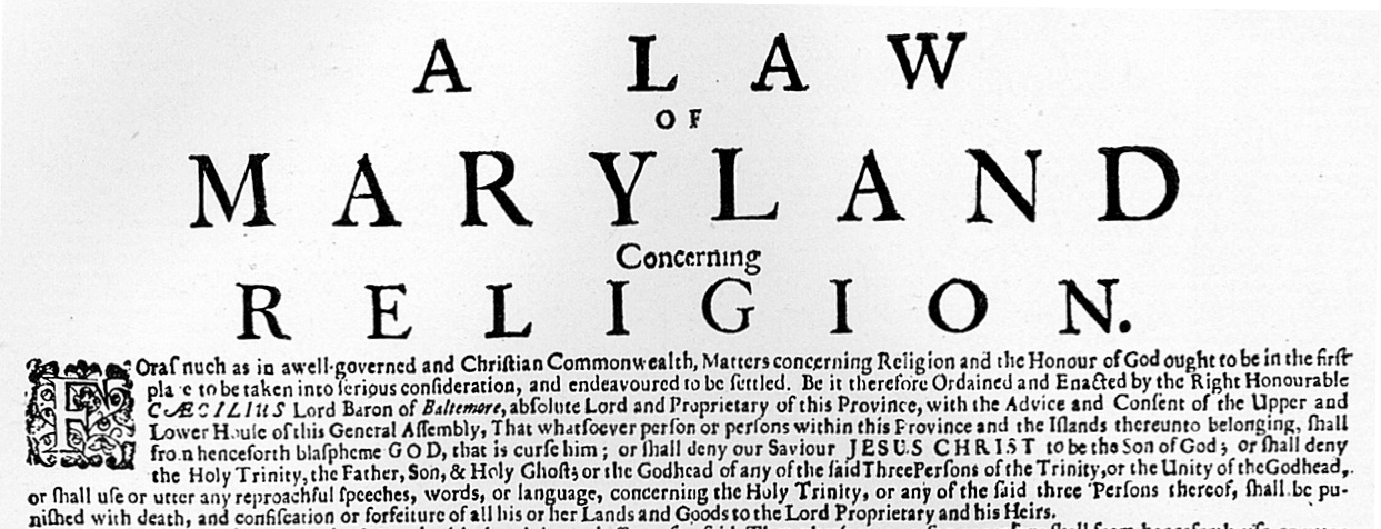 Maryland's Protestant Revolution and the Problem of Religious Freedom