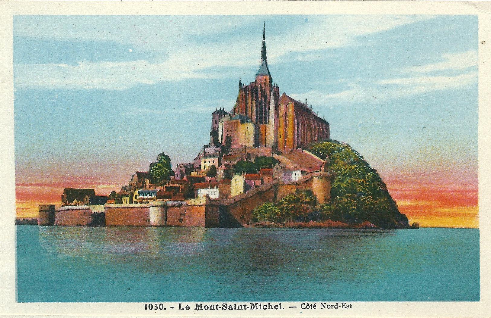 carte mont st michel File:Le Mont Saint Michel FR 50 carte postale vers 1930 A02.