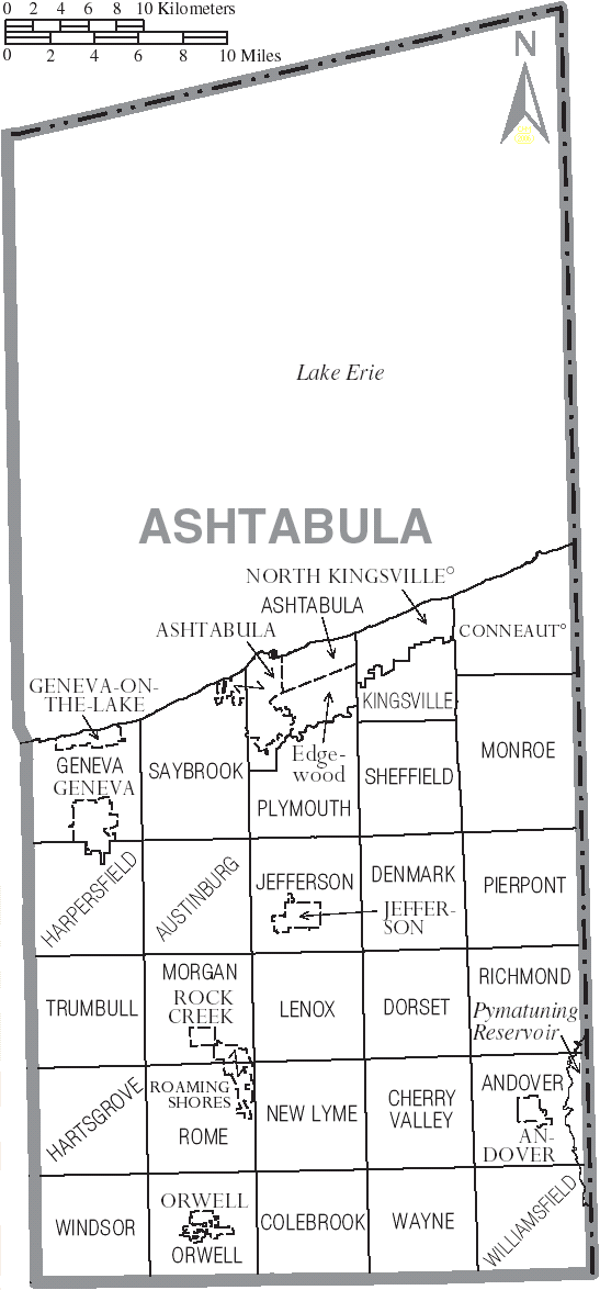 File Map Of Ashtabula County Ohio With Municipal And Township Labels