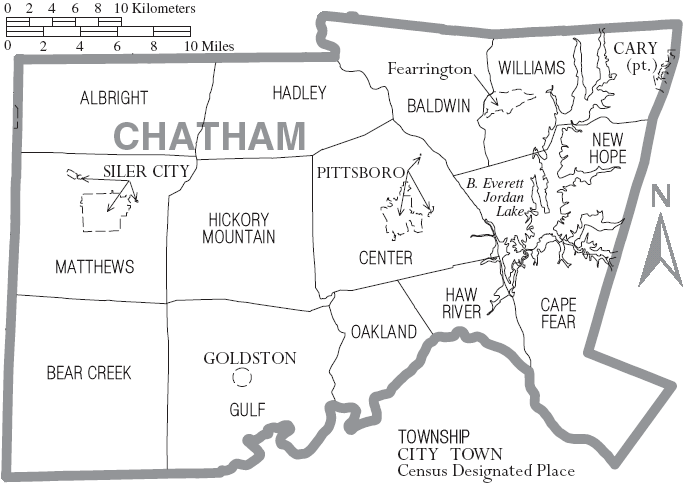 File:Map of Chatham County North Carolina With Munil and ... on