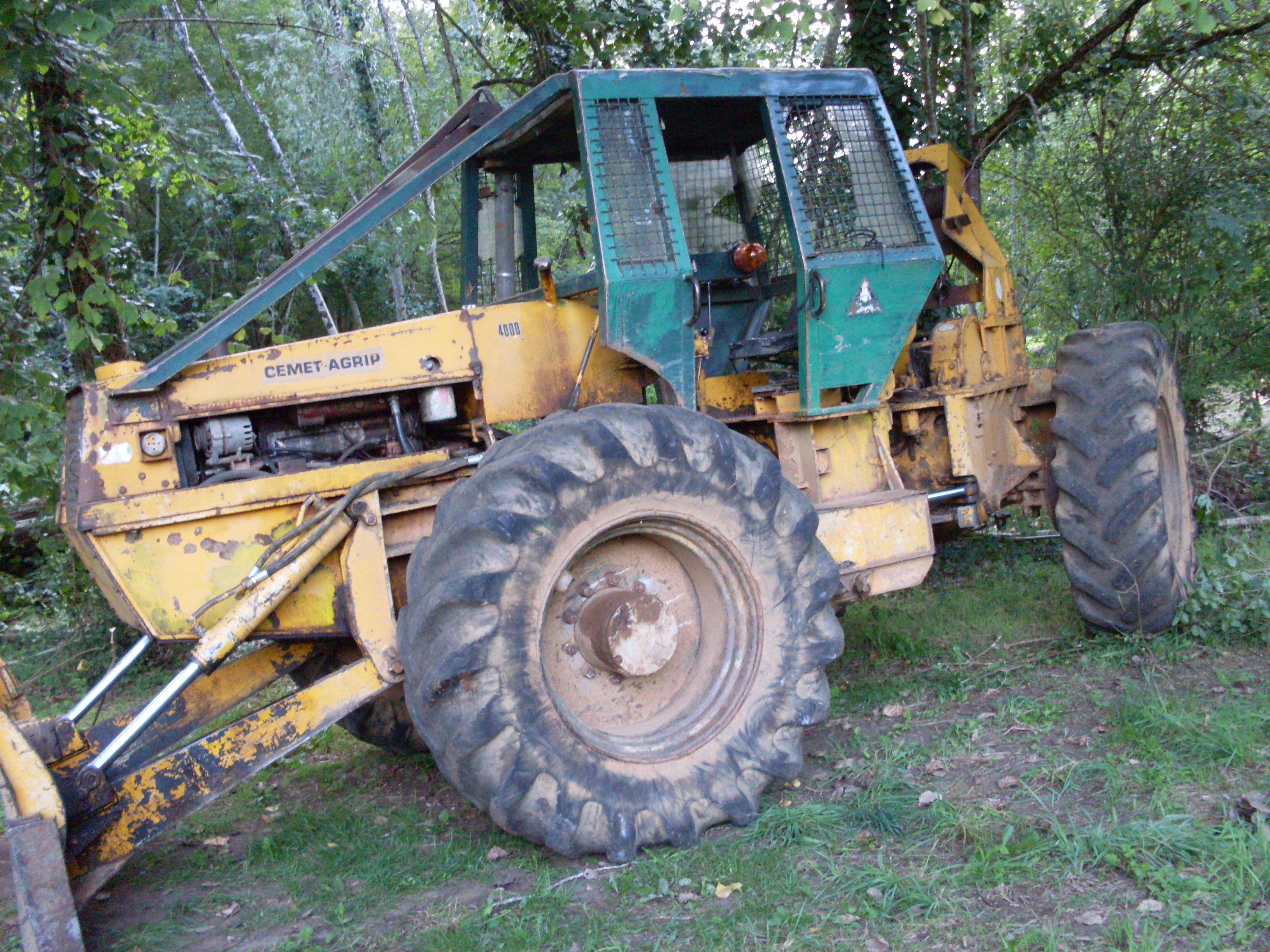 tracteur forestier cemet
