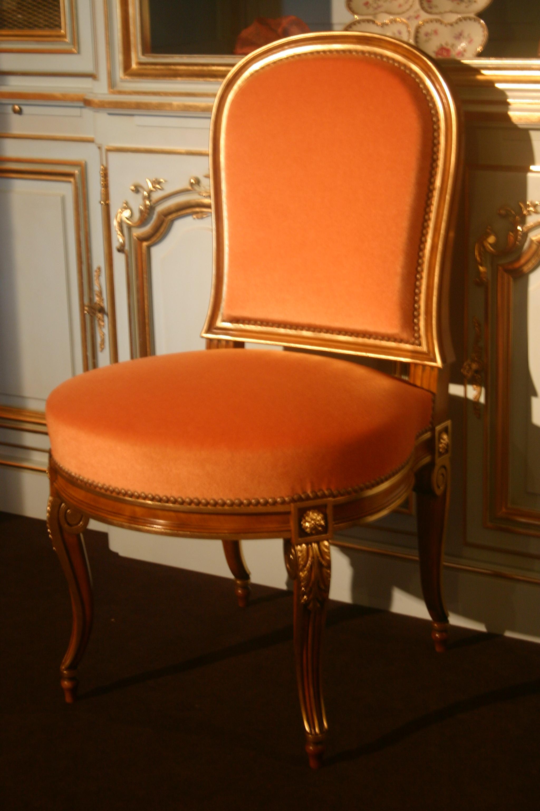 """File N°166 chaise """"Georges Jacob"""" de style Transition réplique d"""