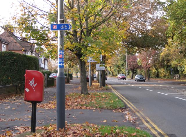 NCN Route 41 crosses Radford Road (2) - geograph.org.uk - 1563358