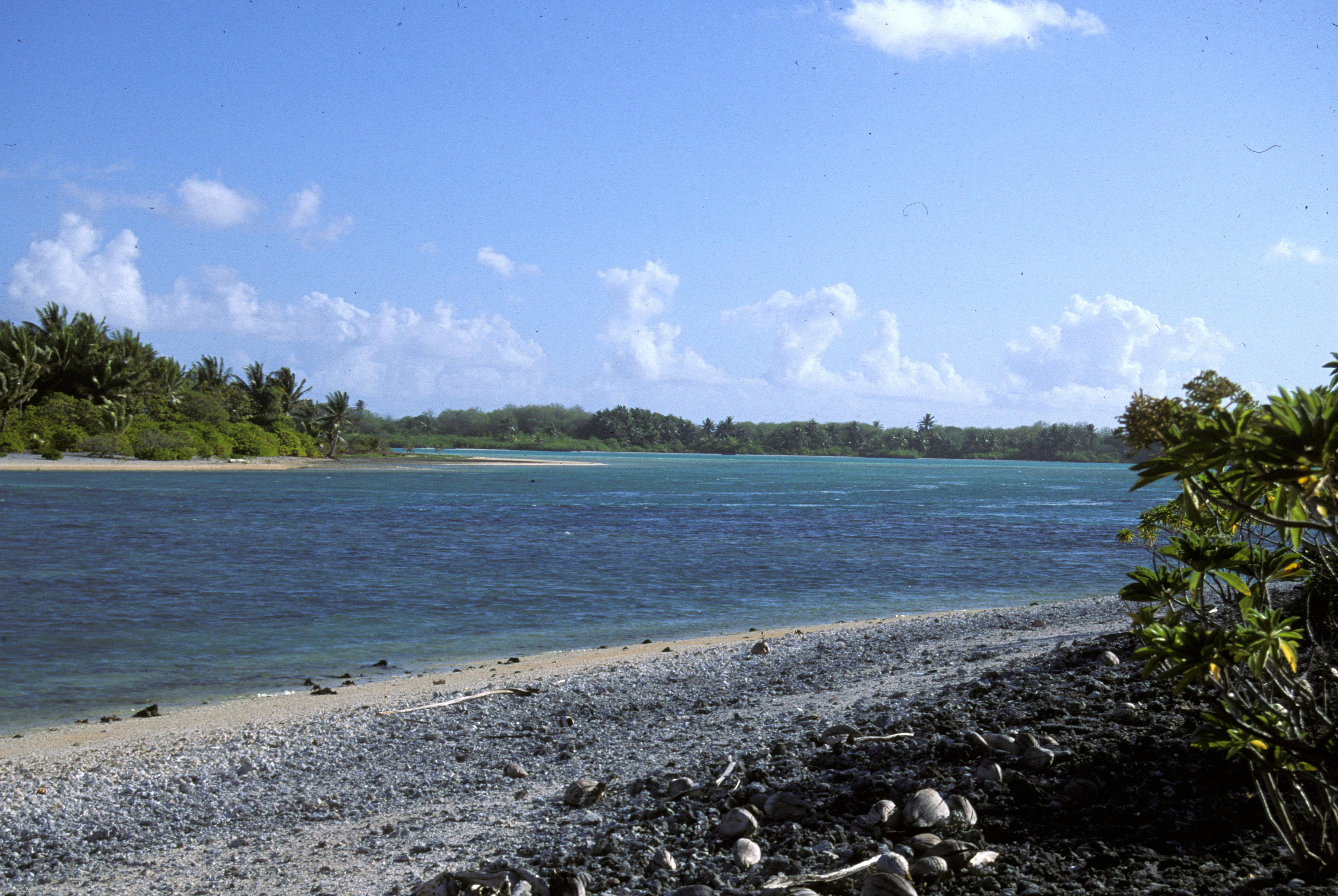 Island Of Kiribati In The South Pacific