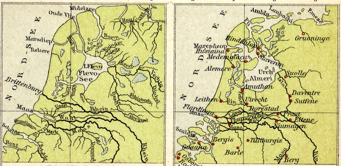 Sketch: New Map of the Holy Roman Empire North_Holland_1st-10th_Century