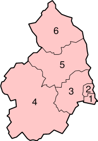 Location of Northumberland