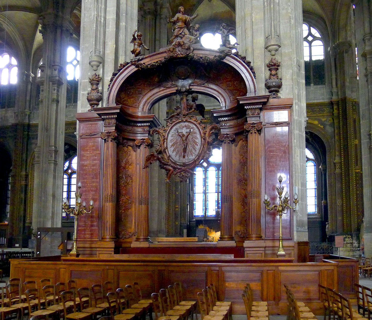 fichier p1020659 paris ier eglise saint eustache banc d 39 oeuvre rwk jpg wikip dia. Black Bedroom Furniture Sets. Home Design Ideas