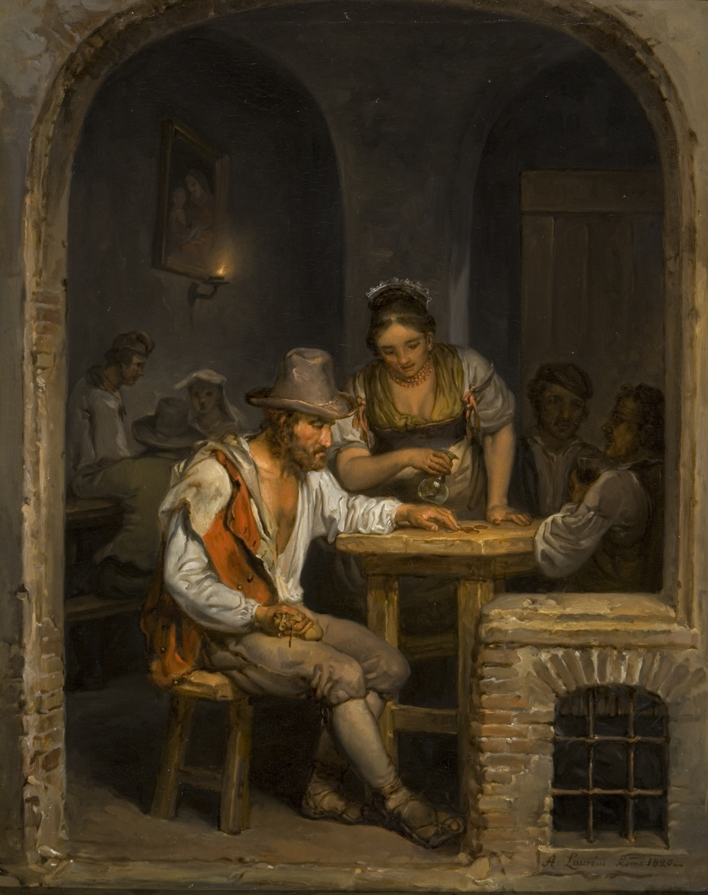 File:Painting by Alexander Laureus called Roman Osteria, 1820.jpg