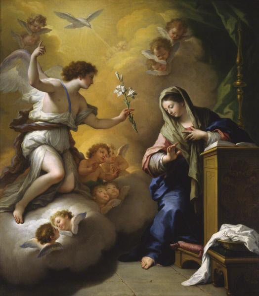 The Annunciation by Paolo de Matteis, 1712. Paolo de Matteis - The Annunciation.jpg