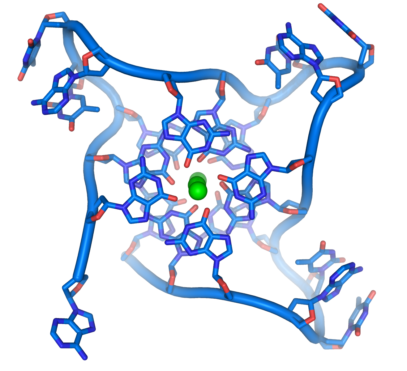 Crystal structure of parallel quadruplexes fro...
