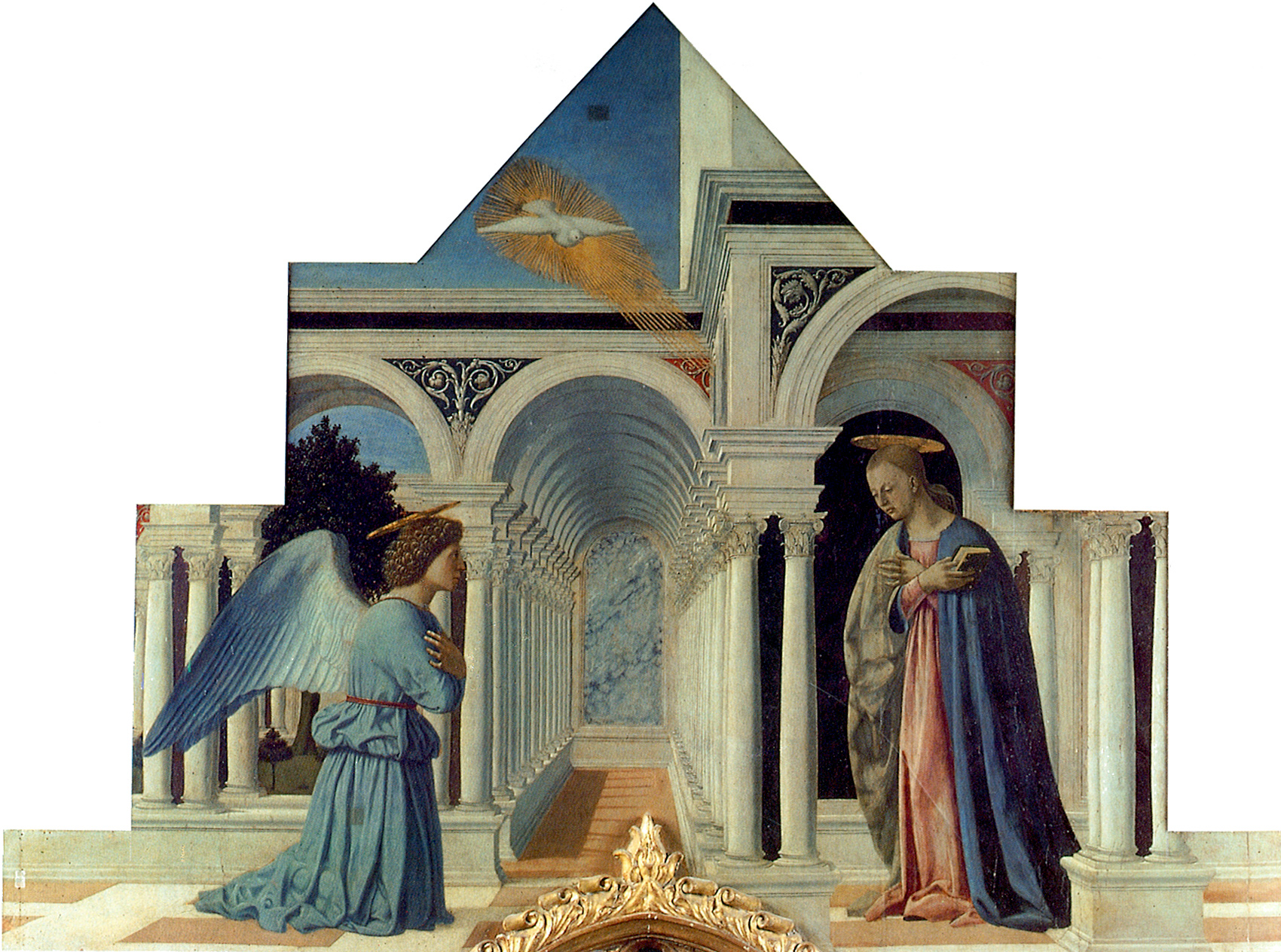 Annunciazione, Galleria Nazionale dell'Umbria, Perugia dans immagini sacre Piero%2C_Polittico_di_Sant%27Antonio_05