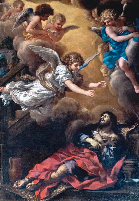 Saint Alexius dying